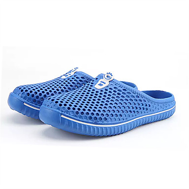 Men's PU(Polyurethane) Summer Slippers & Flip-Flops Walking Shoes Black / Red / Blue