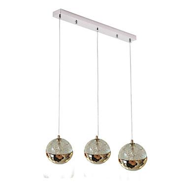 QIHengZhaoMing 3-אור מנורות תלויות Ambient Light - מגן עין, 110-120V / 220-240V, לבן חם, נורה כלולה / G4 / 10-15㎡