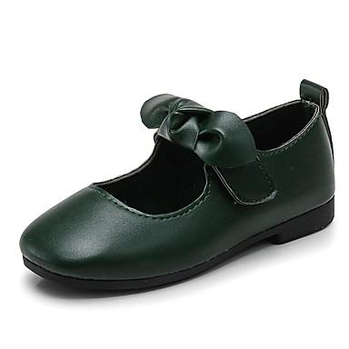 baratos Sapatos de Criança-Para Meninas Courino Rasos Little Kids (4-7 anos) Conforto / Sapatos para Daminhas de Honra Laço / Velcro Preto / Marron / Verde Escuro Primavera / Outono / TPU - Poliuternano Termoplástico