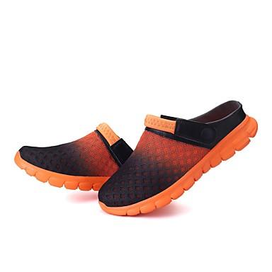 mollet Tongs amp; Chaussures Automne Unisexe Vert Bleu Talon Bottes Mi Plat 06535336 Chaussures Eté Confort Orange Filet Chaussons Tendances 06qwqBF
