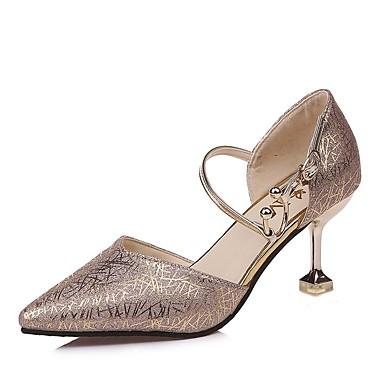Mujer Zapatos Brillantina Primavera / Otoño Confort Zuecos y pantuflas Tacón Bajo Negro / Plata UIGW4It