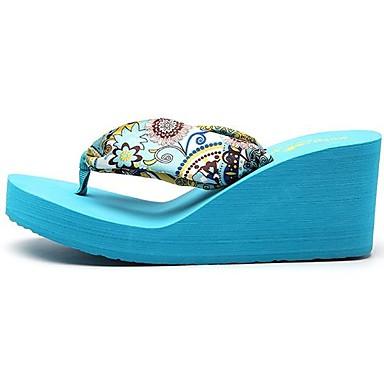Bleu Rose Chaussons Chaussures Creepers amp; Gladiateur Eté Soie Femme Tongs Printemps 06474039 XzvqHZB