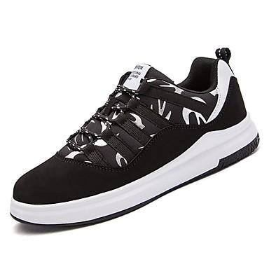 נעליים טול / PU אביב / סתיו נוחות נעלי אתלטיקה סִיסמָה שחור לבן / שחור אדום / ריצה