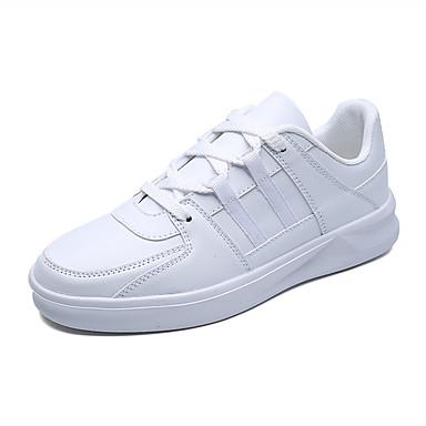 בגדי ריקוד גברים נעלי נוחות PU אביב / סתיו נעלי ספורט לבן / שחור / אדום / בָּחוּץ