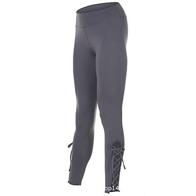 בגדי ריקוד נשים טייץ לריצה - אפור ספורט צורני טייץ רכיבה על אופניים / חותלות לבוש אקטיבי ייבוש מהיר