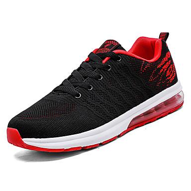 בגדי ריקוד גברים נעליים טול אביב / סתיו נוחות נעלי אתלטיקה הליכה אפור / שחור אדום / שחור / כחול