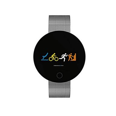 לזוג אוטומטי נמתח לבד שעון יד Chinese בלותוט' לוח שנה עמיד במים מד צעדים שעון עצר סגסוגת להקה פאר אופנתי שחור כסף