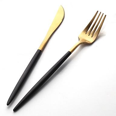 כלי אוכל 2pcs פלדת על חלד סט 22.4*1.5;22.6*2.7 cm
