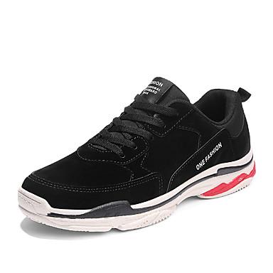 בגדי ריקוד גברים דמוי עור אביב / קיץ נוחות נעלי ספורט בז' / אדום / שקד