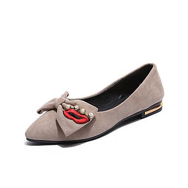Mujer Zapatos Sintéticos Verano Confort Zapatos de taco bajo y Slip-On Tacón Plano Rosa / Azul Claro uOSv5iG