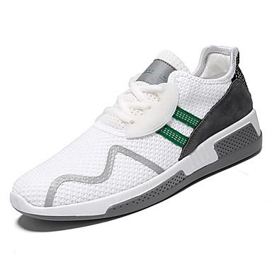 בגדי ריקוד גברים נעליים טול אביב / סתיו נוחות נעלי אתלטיקה הליכה שחור / שחור לבן / לבן וירוק