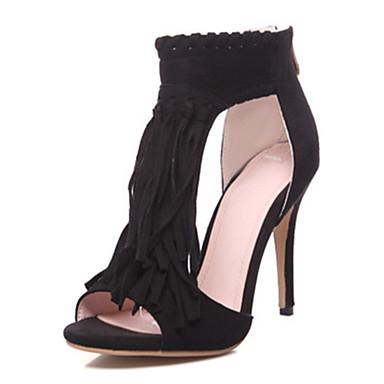 Nobuck alto Punta Sandalias Negro Zapatos Mujer Primavera Innovador 06475937 Confort Verano Cuero Tacón Boda abierta Caqui zABxEfBw