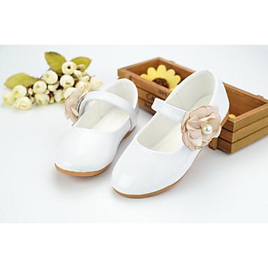 704032bcd05 Chica Zapatos Semicuero Primavera Verano Zapatos para niña florista Confort  Bailarinas Paseo Cuentas Apliques Cinta Adhesiva para Boda