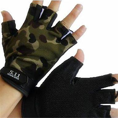 כפפות ספורט/ פעילות לביש / נושם / מונע החלקה בלי אצבעות ניילון רכיבה בכביש / פעילות חוץ / ספורט רב פעילותי יוניסקס