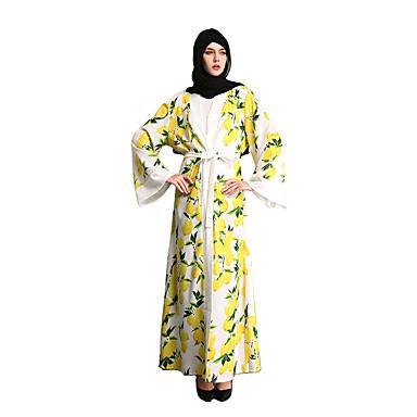 Fashion Kaftan Dress Abaya Arabian Dress Womenu0027s Festival / Holiday Halloween Costumes White Blue Printing  sc 1 st  LightInTheBox & Fashion Kaftan Dress Abaya Arabian Dress Womenu0027s Festival / Holiday ...