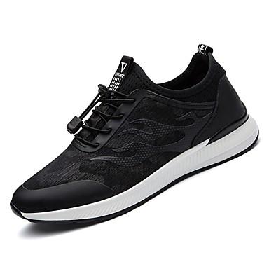 נעליים בד אביב סתיו נוחות נעלי אתלטיקה ל אתלטי שחור שחור לבן