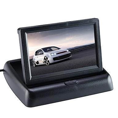 povoljno Automoto-ziqiao® monitor za automobil 4.3 inčni zaslon za stražnje gledanje fotoaparata s mogućnošću preklapanja na stražnjem zaslonu s mogućnošću preklapanja na LCD zaslonu za auto unatrag
