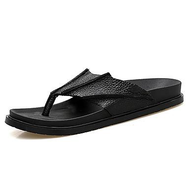 בגדי ריקוד גברים נעליים גומי קיץ נוחות כפכפים & כפכפים לבן / שחור