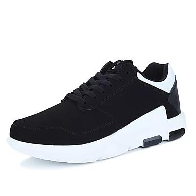 בגדי ריקוד גברים נעליים PU אביב / סתיו נוחות נעלי אתלטיקה שחור לבן / שחור אדום / שחור / ירוק