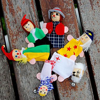 عرائس الأصابع دمى عرائس لعب تمثيلي جذاب محبوب قطيفة للأطفال فتيات ألعاب هدية 6 pcs