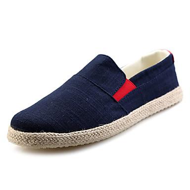 בגדי ריקוד גברים גומי אביב / סתיו נוחות נעליים ללא שרוכים שחור / כחול