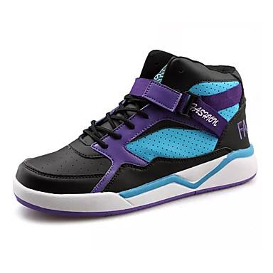 בגדי ריקוד גברים PU אביב / סתיו נוחות נעלי אתלטיקה כדורסל שחור לבן / שחור אדום / שחור / כחול