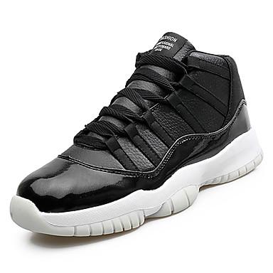 בגדי ריקוד גברים נעליים PU אביב / סתיו נוחות נעלי אתלטיקה כדורסל לבן / שחור / אדום