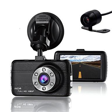 עדשה כפולה מקף מצלמה מצלמת dvr עבור הנהגים מלא HD 1080 p מקליט מצלמה עם ראיית לילה g- חיישן