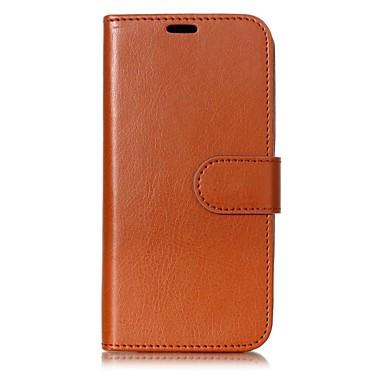 מגן עבור Apple iPhone X / iPhone 8 ארנק / מחזיק כרטיסים / עם מעמד כיסוי מלא אחיד קשיח עור PU ל iPhone X / iPhone 8 Plus / iPhone 8
