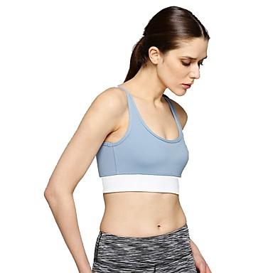 חזיות ספורט מרופד תמיכה קלה עבור יוגה - כחול ייבוש מהיר, נשימה בגדי ריקוד נשים כותנה, ניילון