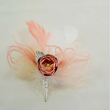 פרחי חתונה פרחי דש / מצנפת / סיכות נוי וסיכות ראש חתונה / מסיבה נוצות / נוצת אווז / בדים 5.91