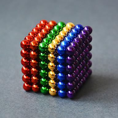 216 pcs 5mm Magnetiske puslespil Magnetiske kugler Byggeklodser Neodymmagnet Magnet Voksne Drenge Pige Legetøj Gave