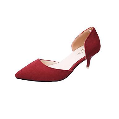 Mulheres Sapatos Couro Ecológico Verão Solados com Luzes Conforto Rasos Sem Salto Dedo Apontado para Social Preto Cinzento Vermelho Verde