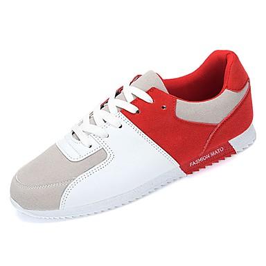 PU אביב / סתיו נוחות נעלי אתלטיקה קולור בלוק שחור / אדום / כחול / ריצה