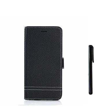 מגן עבור Huawei P9 לייט מיני P10 Lite מחזיק כרטיסים עם מעמד נפתח-נסגר כיסוי מלא צבע אחיד קשיח עור PU ל P10 Lite P10 P9 lite mini Huawei