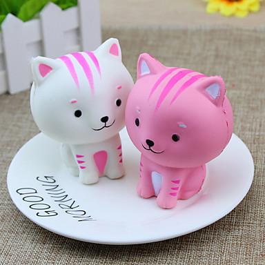 LT.Squishies צעצוע מעיכה / מקל מתחים חתול / חיה הפגת מתחים וחרדה / Office צעצועים במשרד / הקלה על ADD, ADHD, חרדה, אוטיזם 1 pcs קלסי בגדי ריקוד ילדים / מבוגרים יוניסקס מתנות