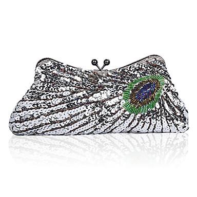 preiswerte Taschen-Damen Taschen Polyester Abendtasche Perlenstickerei Stickerei Purpur / Fuchsia / Graues Grün