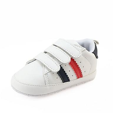 בנות נעליים דמוי עור אביב / סתיו נוחות / צעדים ראשונים / נעליים לעריסה נעלי ספורט סקוטש ל אדום / ירוק / שחור אדום
