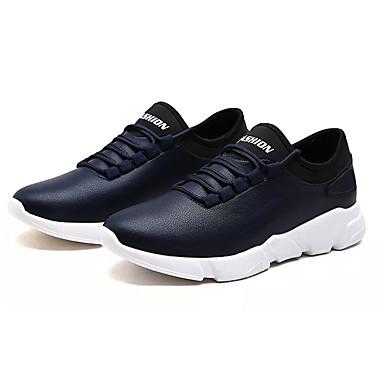 בגדי ריקוד גברים PU אביב / סתיו נוחות נעלי אתלטיקה ריצה לבן / שחור / כחול