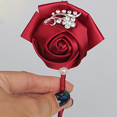 פרחי חתונה פרחי דש חתונה מסיבה מֶשִׁי 3.94