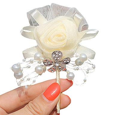 פרחי חתונה פרחי דש חתונה מסיבה מֶשִׁי 2.76