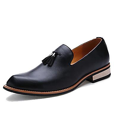 ca7b11ebe15 Ανδρικά Δερμάτινα παπούτσια Δέρμα Άνοιξη / Φθινόπωρο Καθημερινό Μοκασίνια &  Ευκολόφορετα Μαύρο / Φούντα / Φούντα