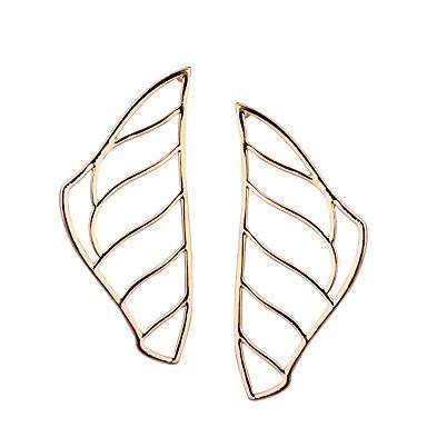 בגדי ריקוד נשים עגילי טיפה - Leaf Shape אופנתי זהב / כסף עבור יומי פגישה (דייט)