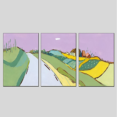 ציור שמן צבוע-Hang מצויר ביד - L ו-scape מודרני בַּד