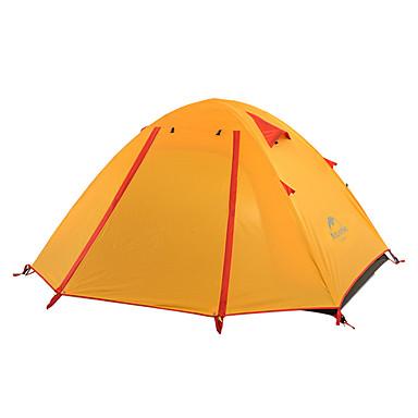 Naturehike 2 personer Telt Dobbelt camping Tent Utendørs Turtelt Velventilert Vanntett Regn-sikker til Fisking Strand Camping Utendørs