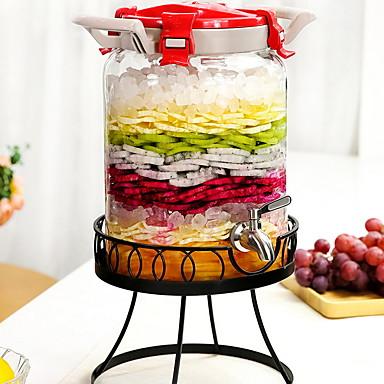 זכוכית פלדת אל חלד/ברזל איכות גבוהה גוף שקוף בקבוקים וקערות 1pc ארגון המטבח