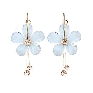 2f1988a05e7b Mujer Pendientes colgantes Aretes Floral   Botánico Flor damas Moda Joyas  Blanco Para Fiesta
