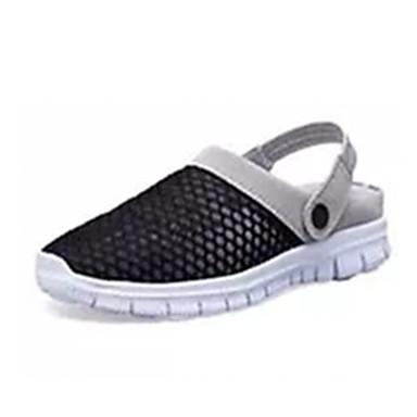 Herrn Schuhe Tüll Frühling / Herbst Komfort Loafers & Slip-Ons Walking Schwarz / Grau / Blau