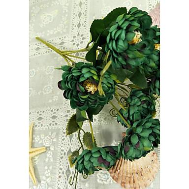 פרחים מלאכותיים 2 ענף פסטורלי סגנון חינניות פרחים לשולחן