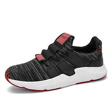 בגדי ריקוד גברים טול אביב / סתיו נוחות נעלי אתלטיקה הליכה לבן / שחור לבן / שחור אדום